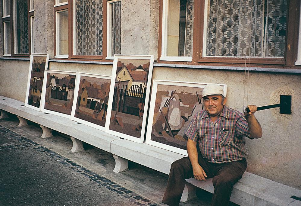 Hajdúböszörményben 1982-ben festett képeivel
