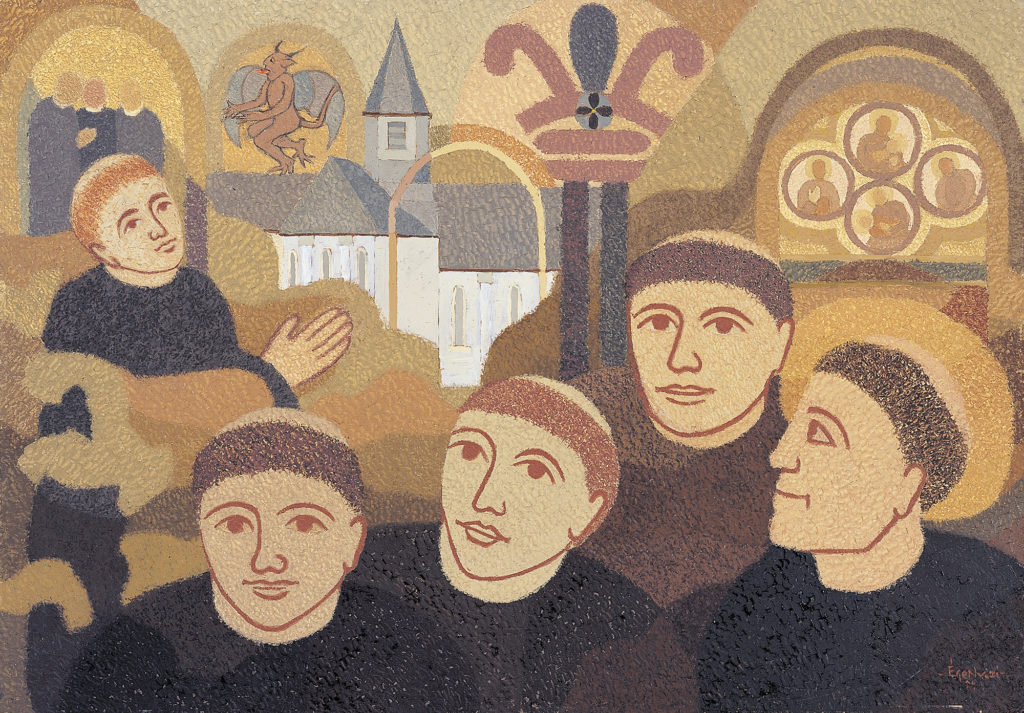 Freskó töredékek/St. Micheli motívum