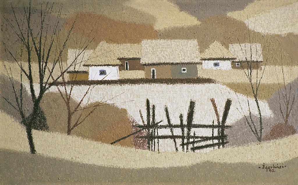 Kerítés, házak