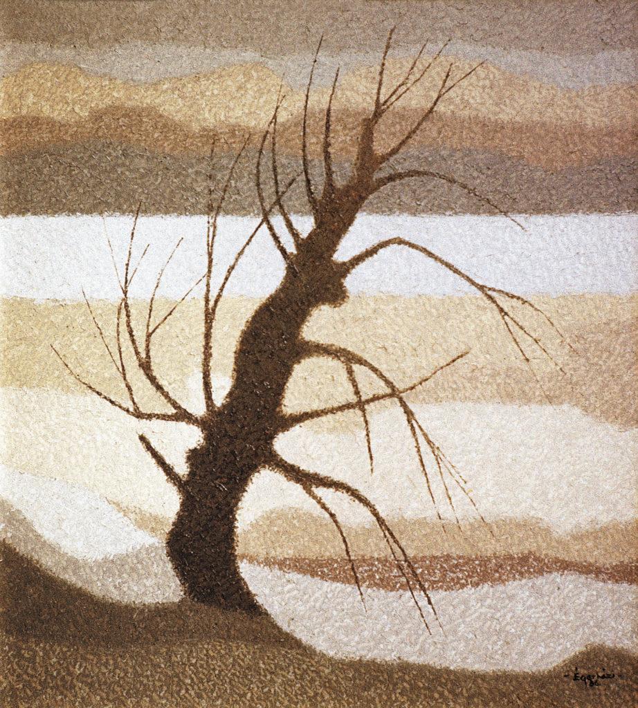 Magányos fa télen