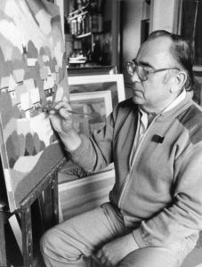 A DEBRECENI MŰTEREMBEN ERDÉLYI KÉP FESTÉSEKOR, 1990.