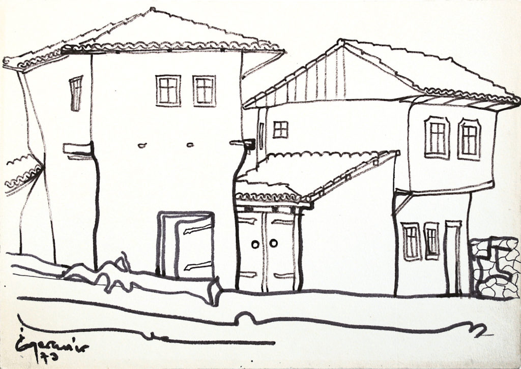 Sumeni házak II., vázlat