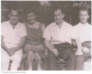 Égerházi Imre testvéreivel