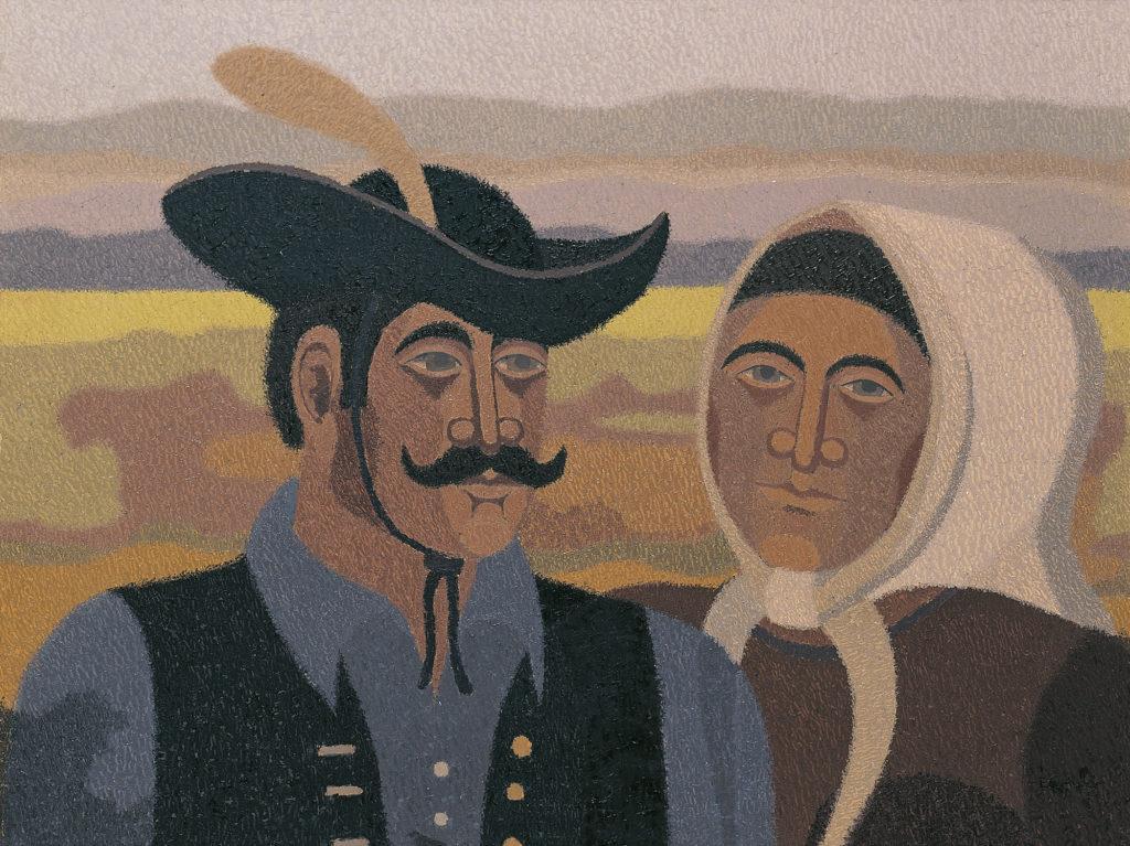 Csikós számadó és a felesége