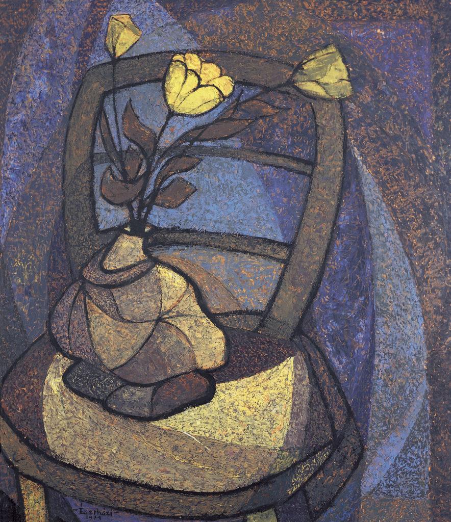 Sárga virágcsendélet