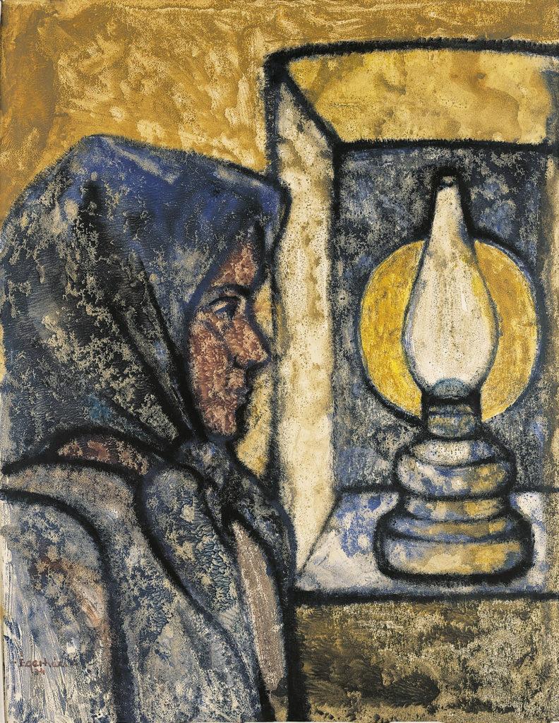 Asszony lámpával